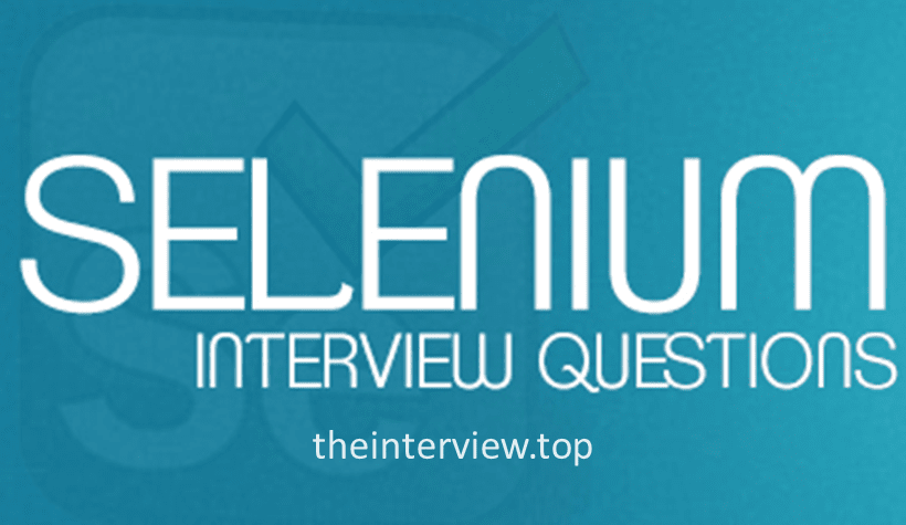 selenium interview questions