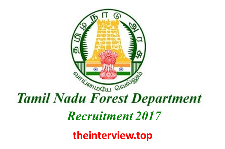 tn forest recruitment 2017