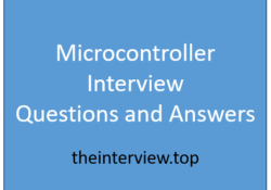 microcontroller interview questions