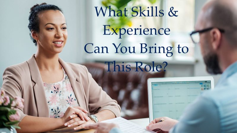 what skills & experience can you bring to this role